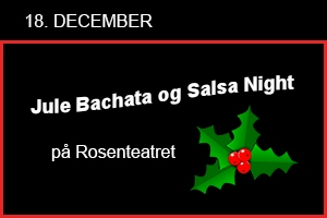 Jule Bachata og Salsa Night